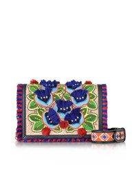 Tory Burch Embroidered Floral Combo Crossbody Bag Multicolor