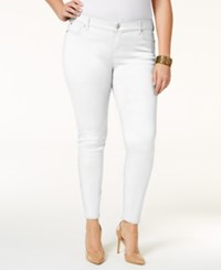 Celebrity Pink Petite Plus Size Skinny Jeans White