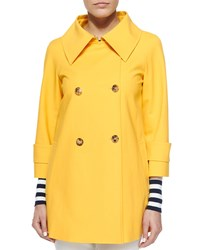 Michael Kors Double Breasted Raincoat Daffodil Yellow Women's