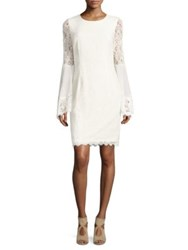 Nue By Shani Mesh Lace Dress Ivory