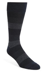 Nordstrom Men's Men's Shop Fine Stripe Crew Socks Navy