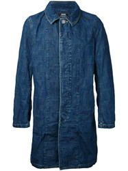 Anrealage Long Denim Jacket Blue