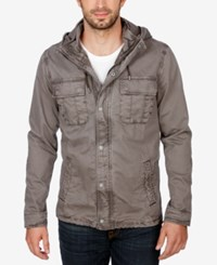 Lucky Brand Men's Hooded Tech Jacket 1631 Char
