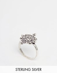 Regal Rose Fleur Sterling Silver Dotted Flower Ring Silver