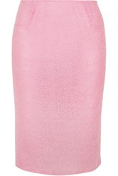 Rosamosario Sweet Sumatra Wool Blend Pencil Skirt Baby Pink