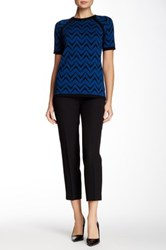 Anne Klein Cropped Solid Pant Black