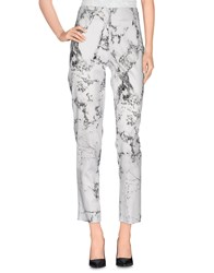 D.Exterior Trousers Casual Trousers Women White