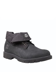 Timberland Leather And Cordura Roll Top Boots Black