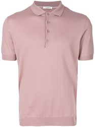 Paolo Pecora Short Sleeve Polo Dress Pink And Purple