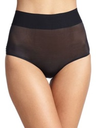 Wolford Sheer Touch Control High Waist Brief Black