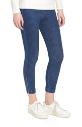 Lysse Cuff Crop Denim Leggings Pin Dot