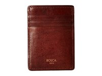 Bosca Dolce Collection Deluxe Front Pocket Wallet Dark Brown Bi Fold Wallet