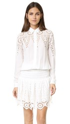 Ganni Yoko Lace Dress Egret
