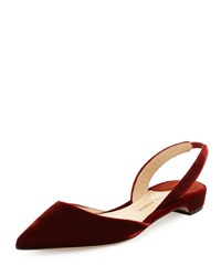 Paul Andrew Rhea Velvet Slingback Flat Burnt Orange