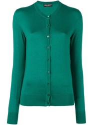 Dolce And Gabbana Fine Knit Cardigan Green