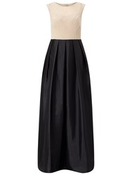 Adrianna Papell Beaded Bodice With Taffeta Skirt Black Nude