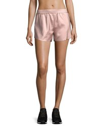 Lanston Chance Metallic Track Shorts Pink Gold