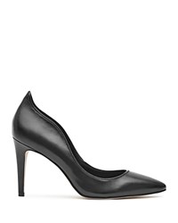Reiss Aggie Curved High Heel Court Pumps Black