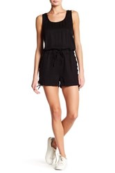 Pistola Sleeveless Side Lace Up Romper Black