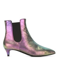 Ash Iridescent Booties Pink And Purple