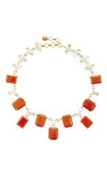 Bounkit Carnelian And Blue Quartz Necklace Multi