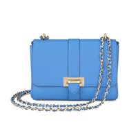 Aspinal Of London Letterbox Chain Bag Blue