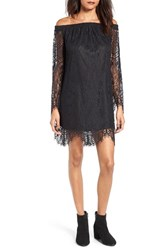 Fire Women's Off The Shoulder Lace Shift Dress