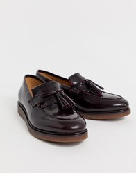 Hudson H By Calne Loafers In Burgundy High Shine Red