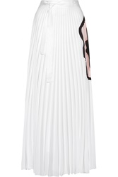 Issa Felicity Pleated Printed Georgette Maxi Skirt