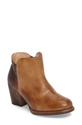 Bed Stu Women's Yell Bootie Tan Teak Rustic Leather