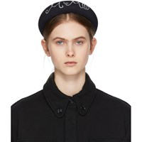 Maison Martin Margiela Mm6 Black Beaded Headband
