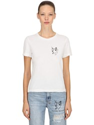 Ksubi Love Ash Distress Jersey T Shirt White