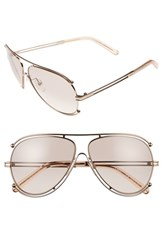 Chloe Women's 'Isidora' 61Mm Aviator Sunglasses Rose Gold Peach