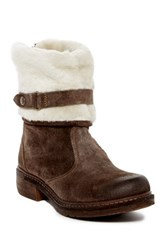 Manas Design Faux Fur Lined Boot Brown