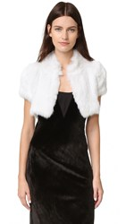 Jocelyn Long Hair Rabbit Knitted Shrug White