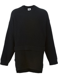 Christopher Shannon Layered Ribbed Sweater Black