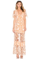 For Love And Lemons Mia Maxi Dress Peach