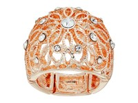 Guess Filigree Flower Dome Ring Rose Gold Crystal Ring