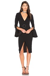 Nicholas Textured Crepe Blazer Dress Black