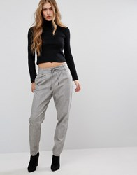 Only Drawstring Trouser Medium Grey