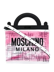 Moschino Mini Shopping Bag White