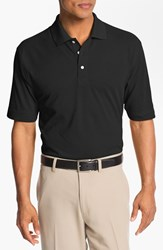 Men's Big And Tall Cutter And Buck 'Championship' Drytec Golf Polo Black