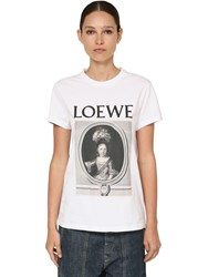 Loewe Cameo Printed Cotton Jersey T Shirt White