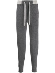 N.Peal Cashmere Knitted Track Pants Grey