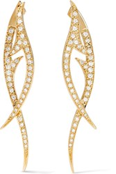 Stephen Webster Thorn 18 Karat Gold Diamond Earrings