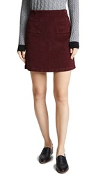 Baldwin Denim Lucy Skirt Mulberry