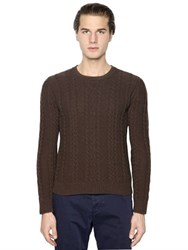 Boglioli Wool Blend Cable Knit Sweater