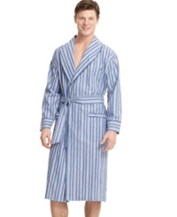 Nautica Men's Sleepwear Shawl Collar Robe Cornflower Blue