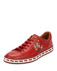 Bally Anistern 18 Leather Low Top Sneakers Red