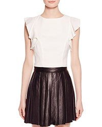 Kendall And Kylie Kendall Kylie Flutter Sleeve Crop Top White